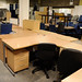 Selection of curved office desks