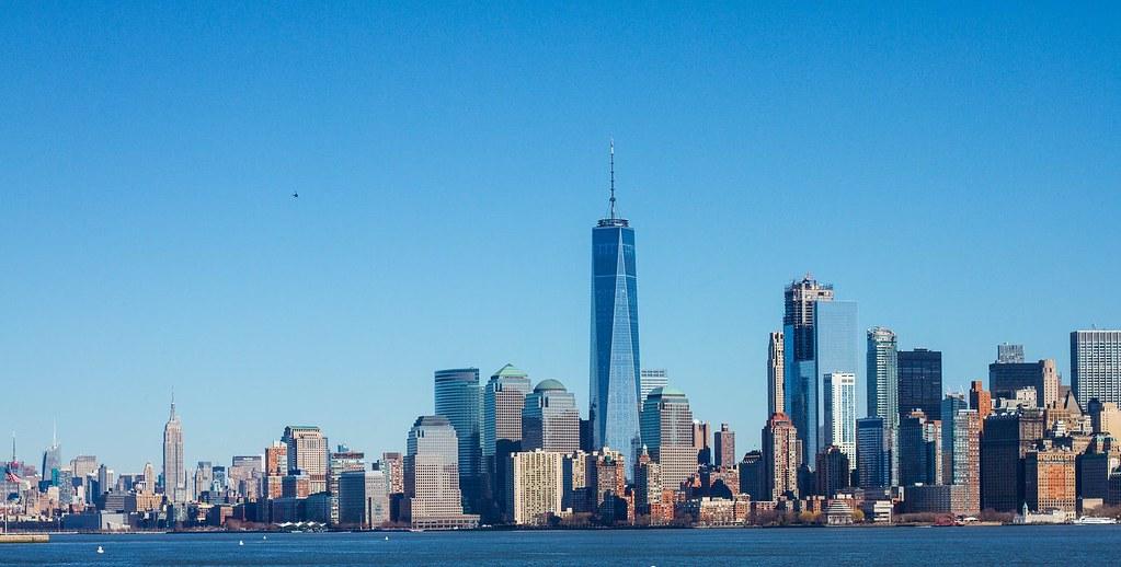 Midtown and lower Manhattan