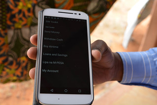 MPESA menu on smartphone Kenya