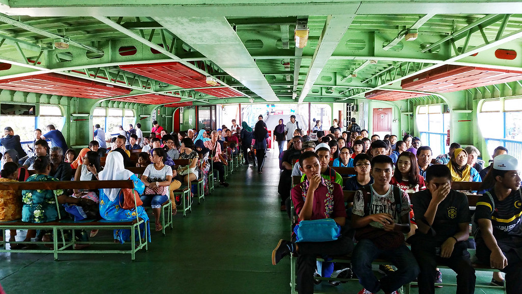 Passenger area of the ferry.