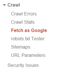Artikel cepat diindeks dengan  fitur fetch as google