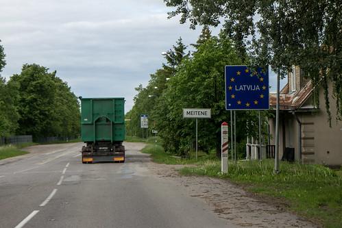 camping europe may latvia mai lithuania easterneurope bordercrossing lettland 2014 litauen eosm osteuropa bezirkšiauliai satkūnųseniūnija