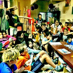 First team meeting with grade 7\'s at field studies #yisfs