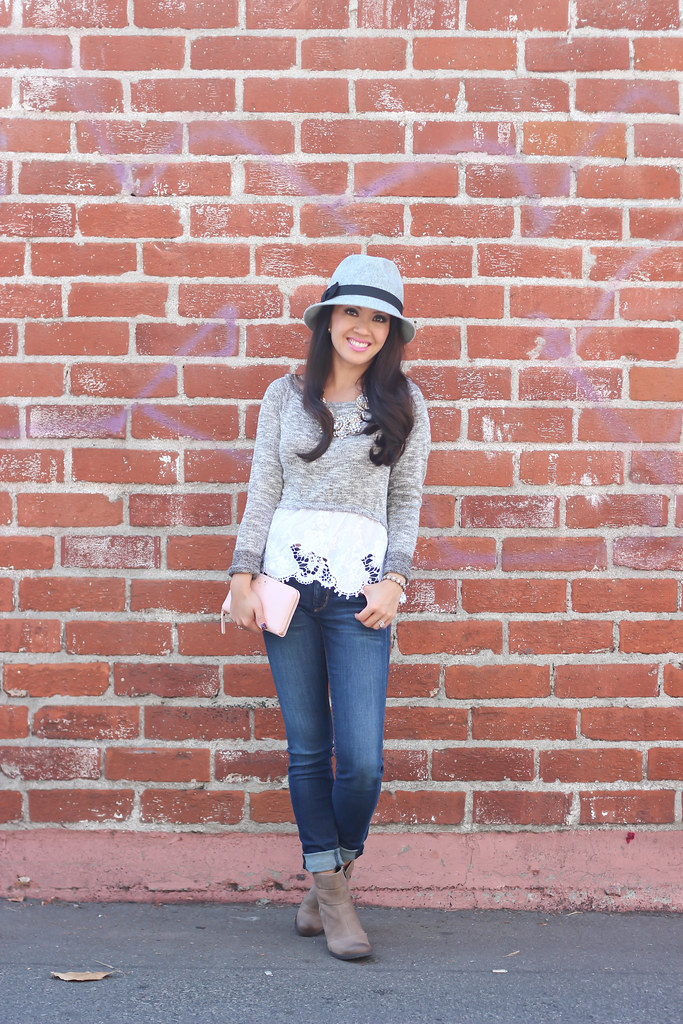 Gray Wool Hat and Clarks Booties-4