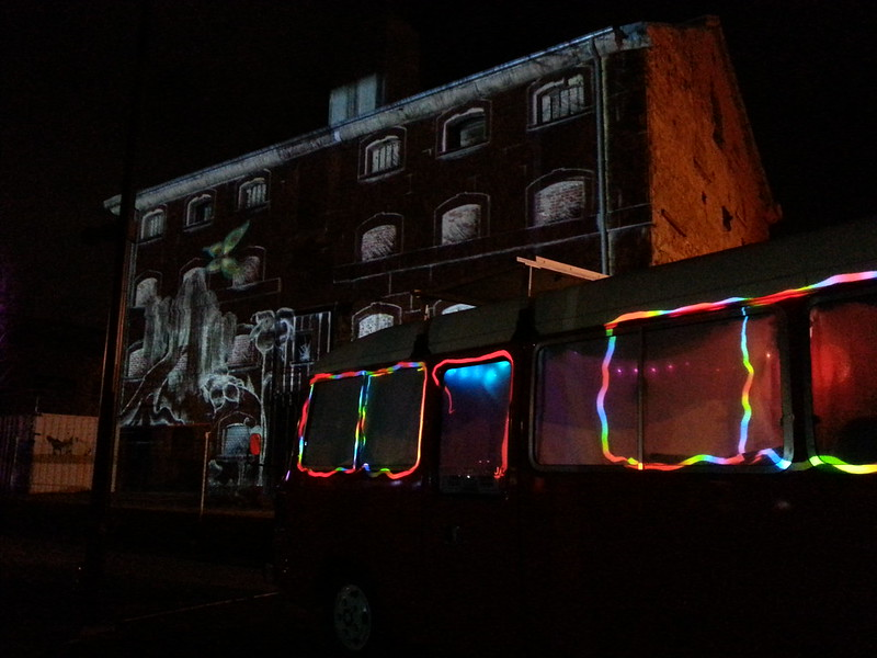 homeJames being used as a canvas for Illuminart's Port Adelaide light projections in South Australia