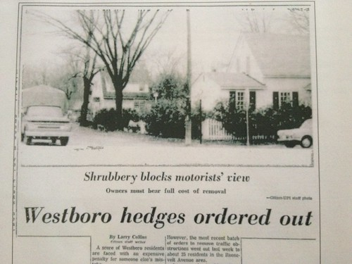 Old newspaper article, from our house history