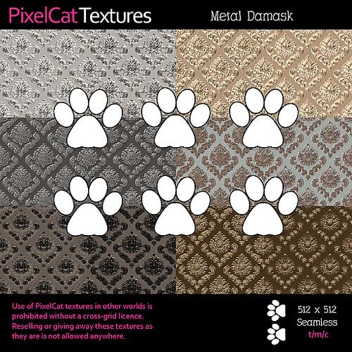 PixelCat Textures - Metal Damask