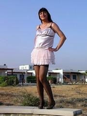 Satin top & miniskirt