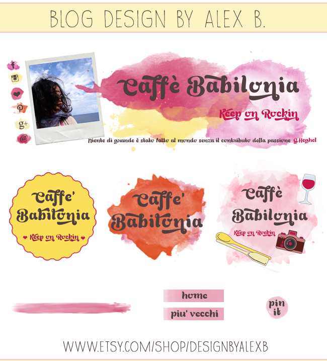watercolor illustrations, grafica ad acquerello, bannerini, https://www.etsy.com/shop/DesignbyAlexB