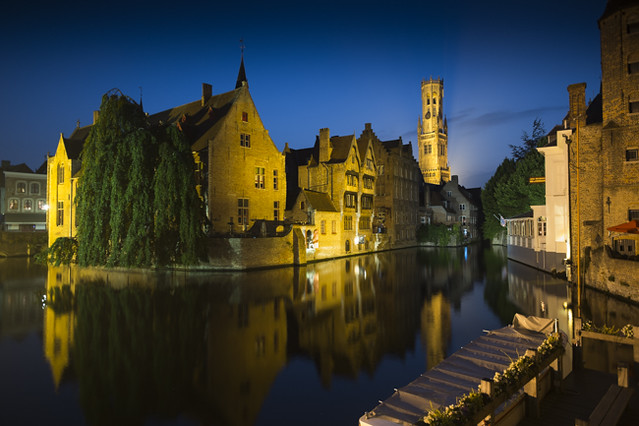 Bruges Belfry in the Evening