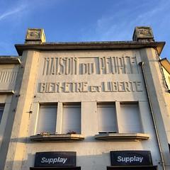 L'interim, bien-être et liberté ?? #SaintQuentin #Aisne #Picardie #France #vintage #vieillesinscriptions #liberalism #iphonepics #iphone5s #iphone #igerssaintquentin #igerspicardie #igersaisne #igersfrance