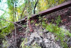 Collapsed Spring Creek Bridge on Unknown Road 1411021424