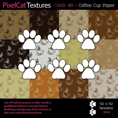 PixelCat Textures - Colab 109 - Coffee Cup Paper