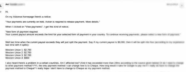 Split Adsense Payment