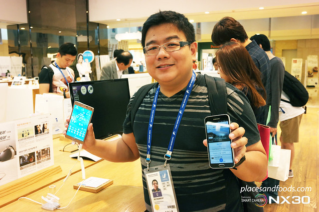samsung galaxy note 4 places and foods