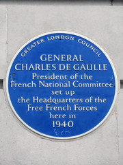 Photo of Charles De Gaulle blue plaque