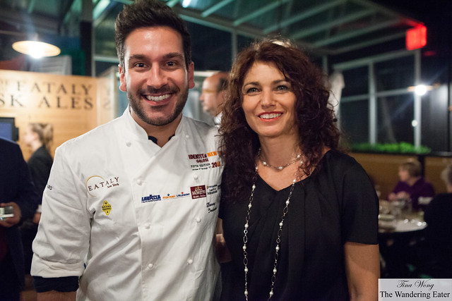Elisabetta Serraiotto and Chef Denny Imbroisi