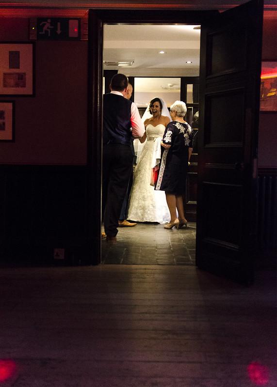 Welcoming wedding guests