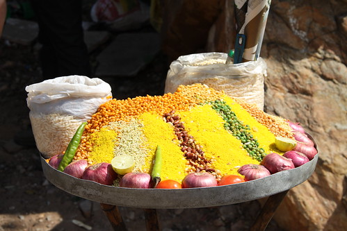 Colorful indian street food