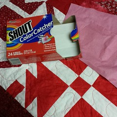And this is why we use #shoutcolorcatcher. That's two ColorCatchers and all the white fabric is still white. <3