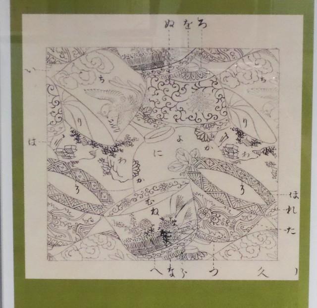 Tea Cup Design working sketch at Kawashima Textile Museum