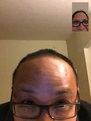 FaceTime photos from our month apart (June 2014)