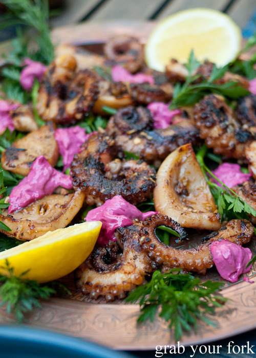Char-grilled octopus by John from heneedsfood