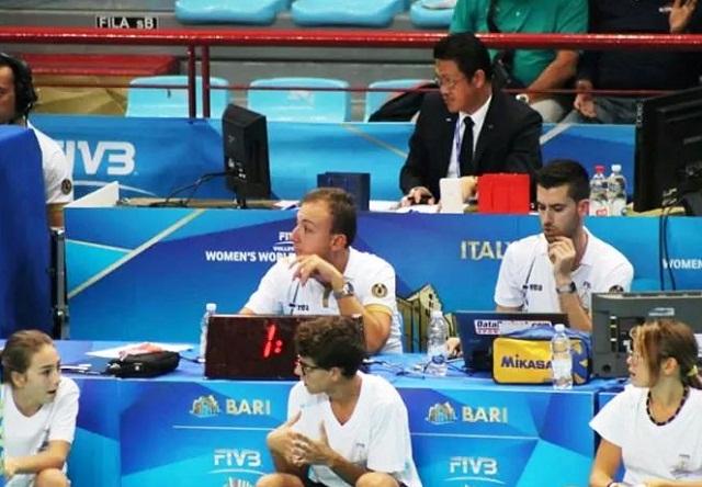 Noicattaro. Giuseppe Cinquepalmi ai Mondiali di volley femminile intero