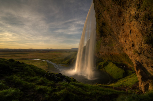 travel sunset vacation nature landscape waterfall iceland nikon outdoor tokina trail hdr d300 landscapephotography photomatix seljelandsfoss 1116mm