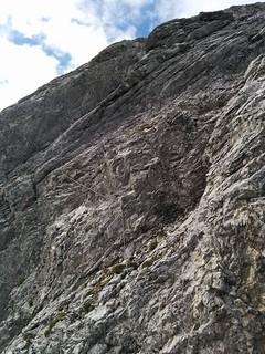 Es geht wieder steil bergauf, Klettersteig Großer Kinigat