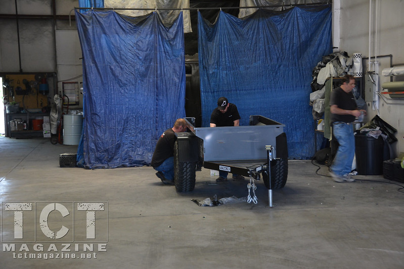 Rhino Lining 4x4 trailer preparation