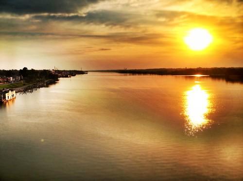 morning bridge ohio sun reflection sunrise river louisville bigfour