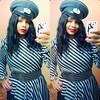 I wore my German Airforce hat because it goes so well with my burgundy trench (next pic)... #burgundylips #wicked #limecrime #velveteen #germanairforce #ilovehats #vintage #80s #stripeddress #peplum #aftertherapy #lucyintheloo