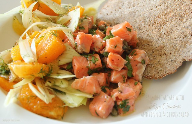 Salmon Tartare & Fennel & Citrus Salad 1