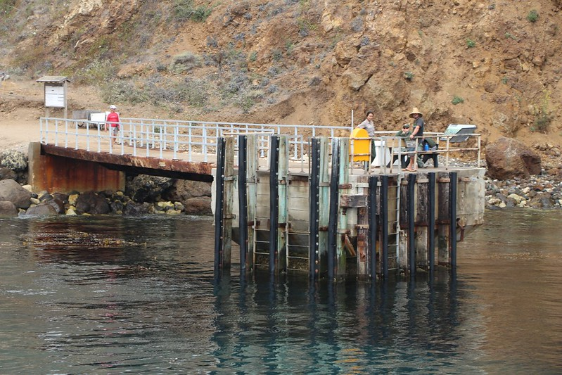 The pier at Scorpion Anchorage on Santa Cruz Island