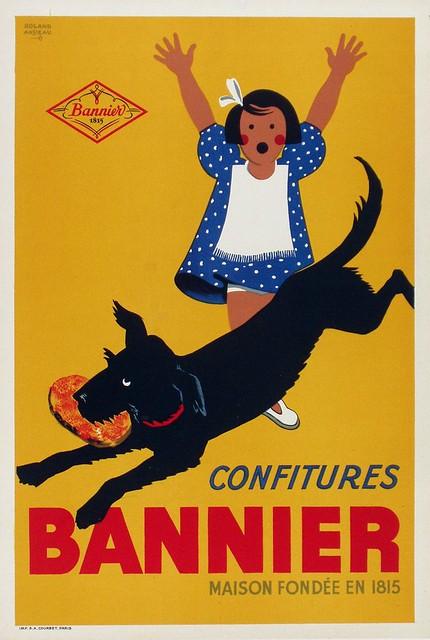 """Publicité """"Confiture BANNIER"""" de 1930."""