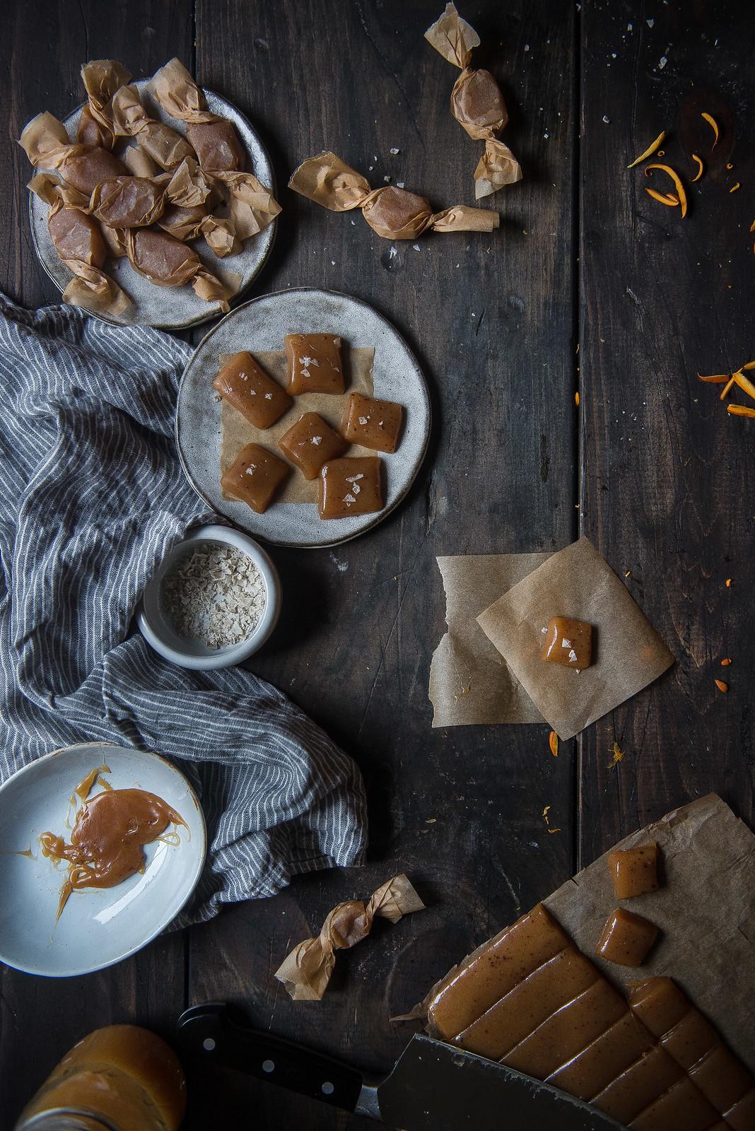 happy halloween + apple cider creme fraiche caramels!