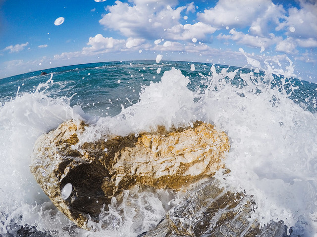 wave, sea, summer, gopro