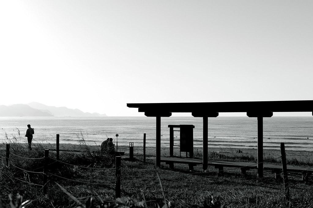静かな時間|夕日が浦海岸