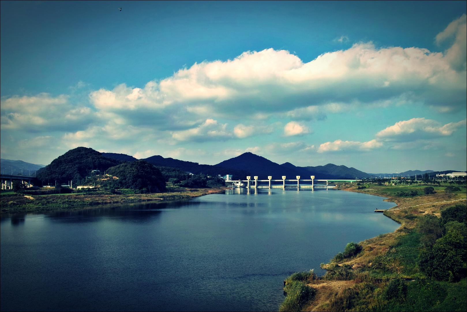 공주보 인근-'금강 자전거 캠핑 종주'