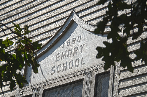 Emory School Sign HDR