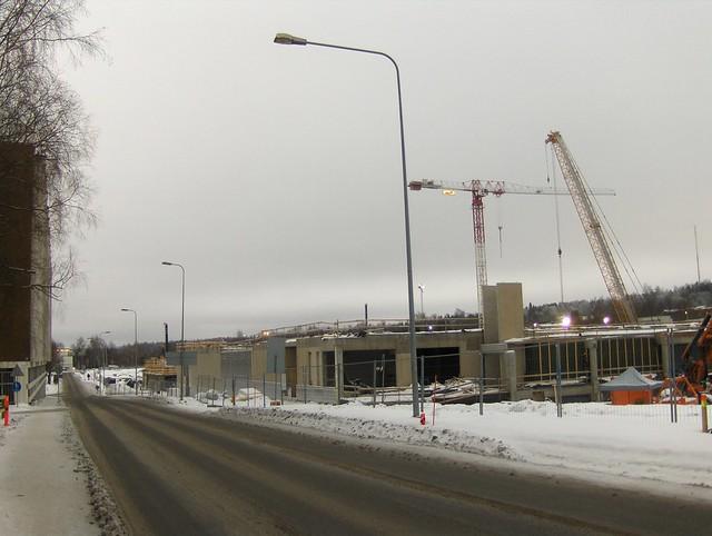 Hämeenlinnan moottoritiekate ja Goodman-kauppakeskus: Työmaatilanne 13.1.2013 - kuva 2