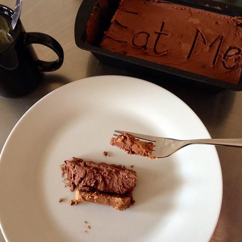 Double chocolate cheesecake. Green tea. Lush!