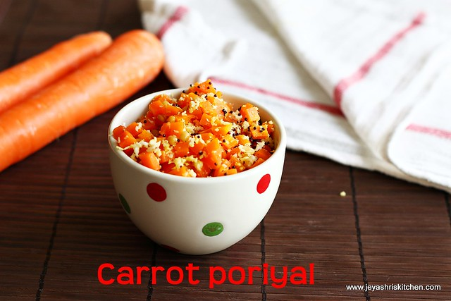 Microwave-carrot -poriyal