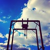 Rusty crane #metal #clouds #blueskies