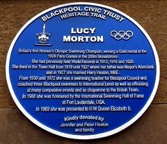 Photo of Lucy Morton blue plaque