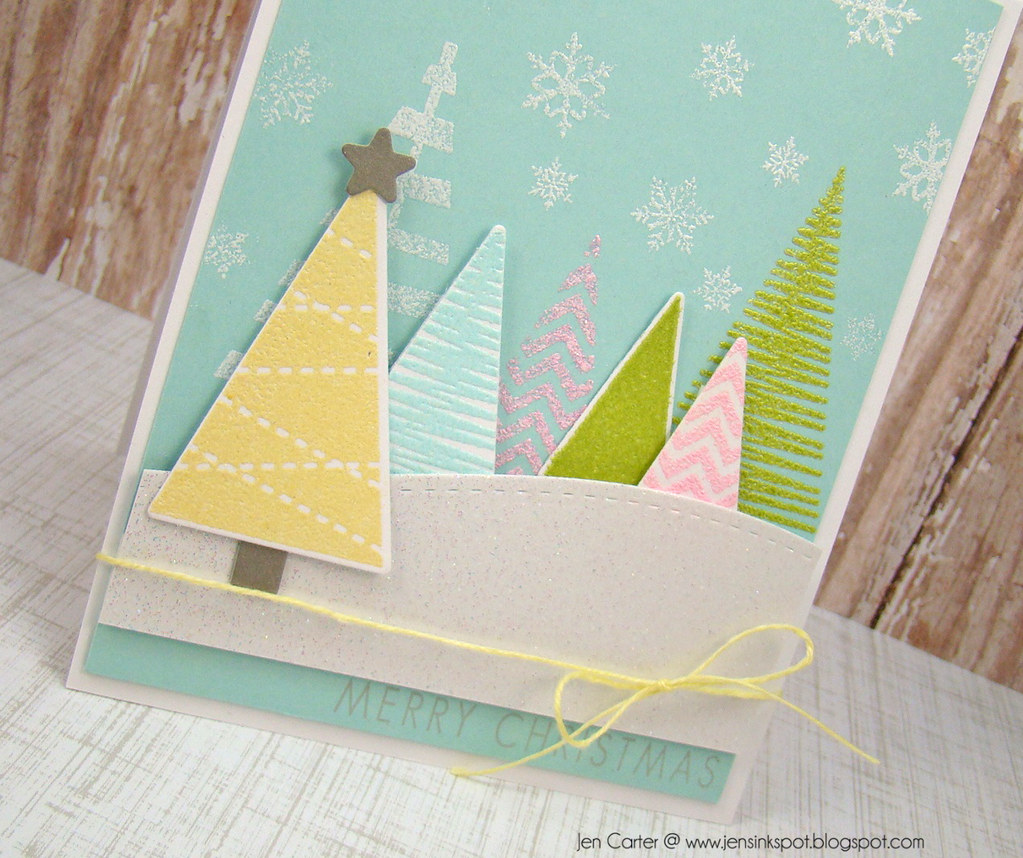 Jen Tremendouse Triangles Christmas Above