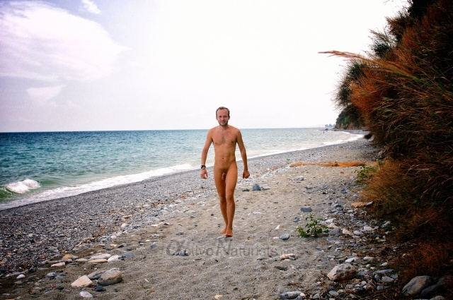 naturist 0001 Litochoron beach, Greece