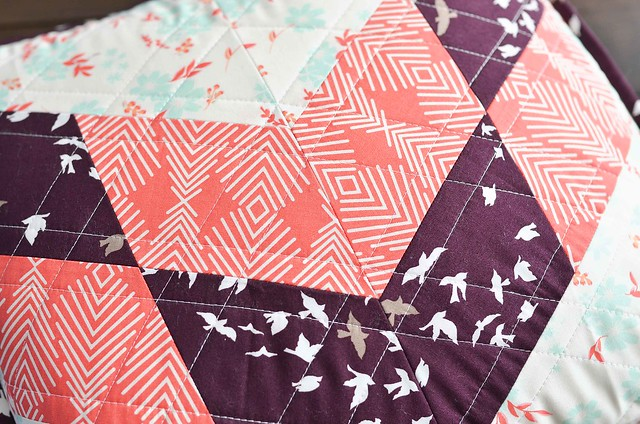 single chevron winged quilt