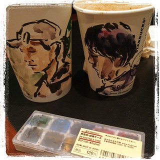 #japon #portraits #starbucks #watercolor #pentel